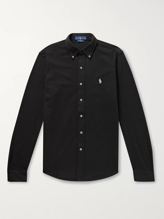 Polo Ralph Lauren Slim-Fit Button-Down Collar Cotton-Piqué Shirt