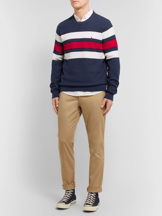 Polo Ralph Lauren Striped Supima Cotton Sweater
