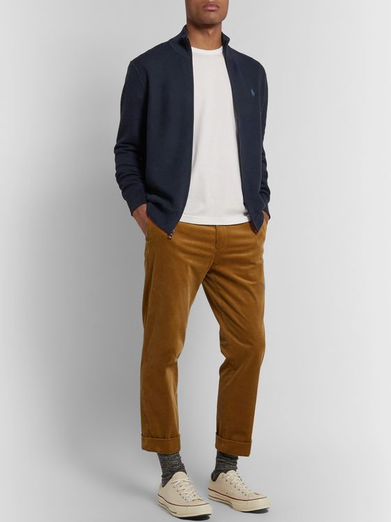 POLO RALPH LAUREN Honeycomb-Knit Pima Cotton Zip-Up Cardigan