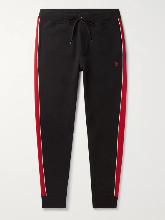 Polo Ralph Lauren Tapered Striped Jersey Track Pants