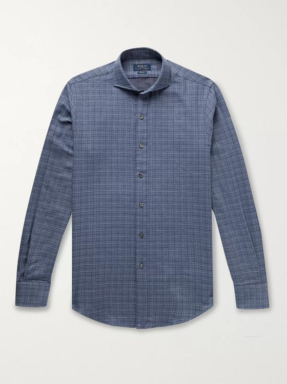 Polo Ralph Lauren Slim-Fit Checked Double-Faced Cotton-Flannel Shirt