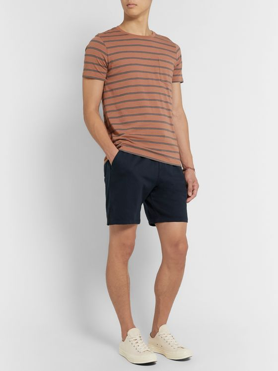 Save Khaki United Slim-Fit Garment-Dyed Fleece-Back Supima Cotton-Jersey Drawstring Shorts