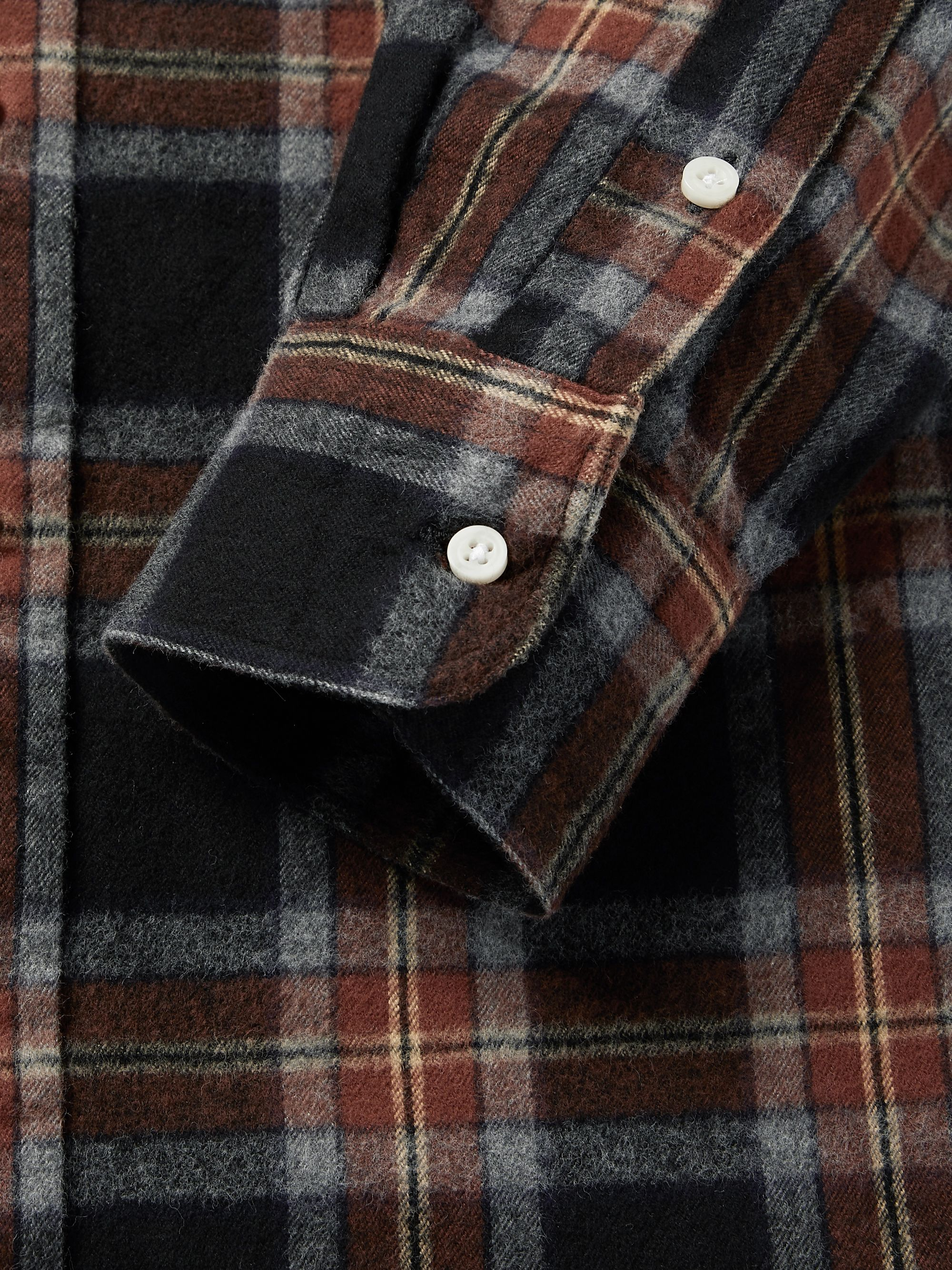 Gitman Vintage Button-Down Collar Checked Brushed-Cotton Oxford Shirt