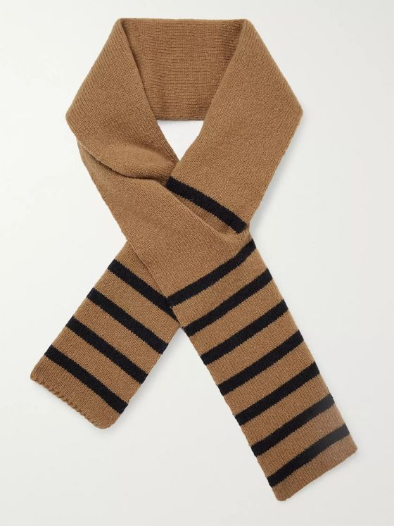 Universal Works Striped Wool-Blend Scarf