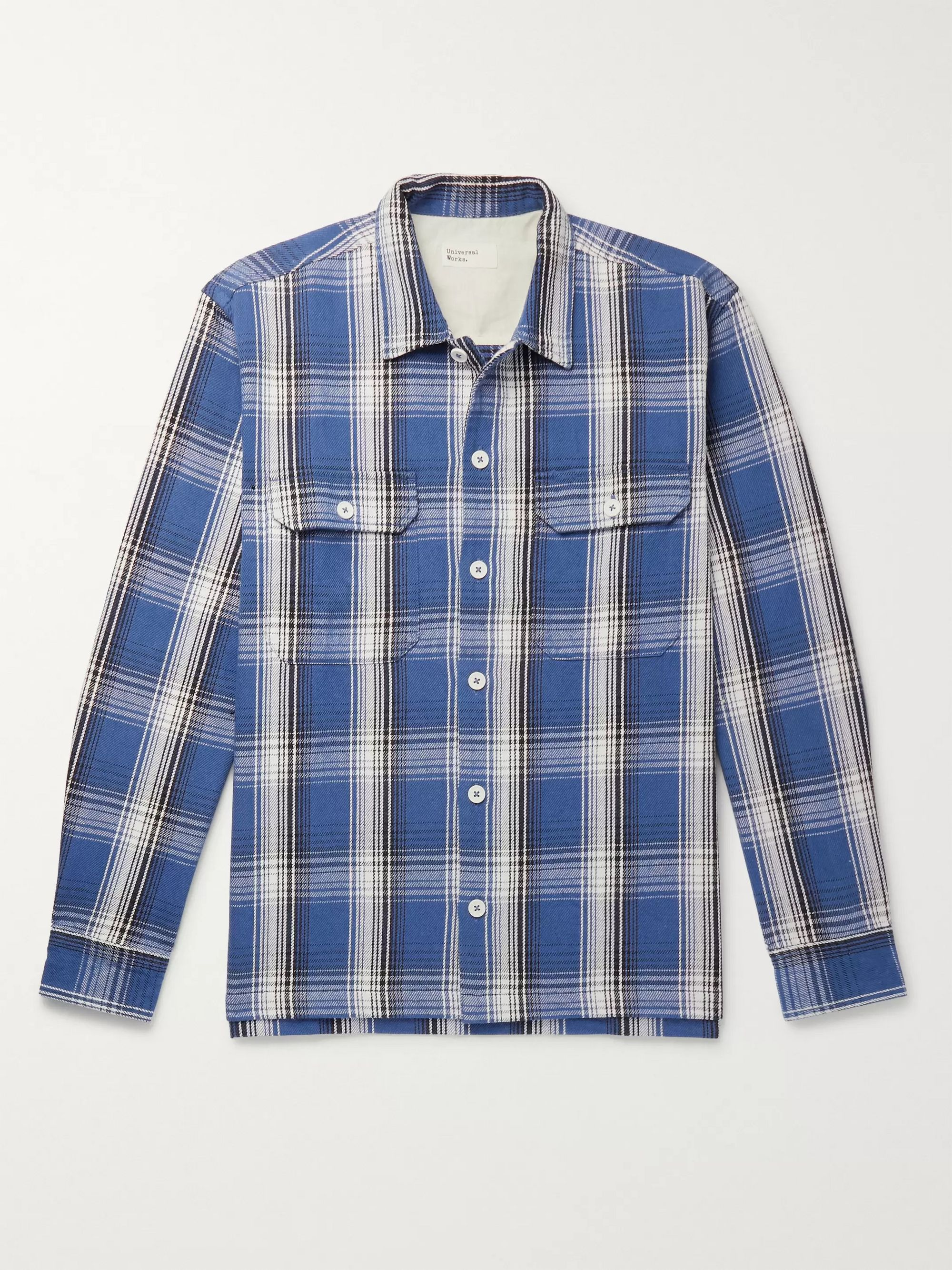 Universal Works Checked Cotton Overshirt