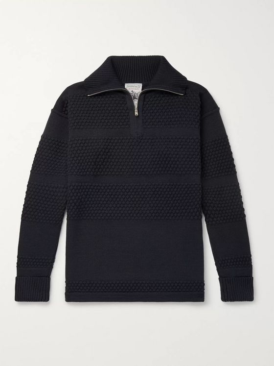 S.N.S. Herning Virgin Wool Half-Zip Sweater