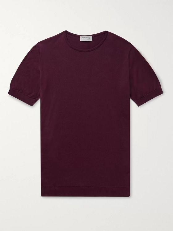 John Smedley Belden Slim-Fit Knitted Sea Island Cotton T-Shirt