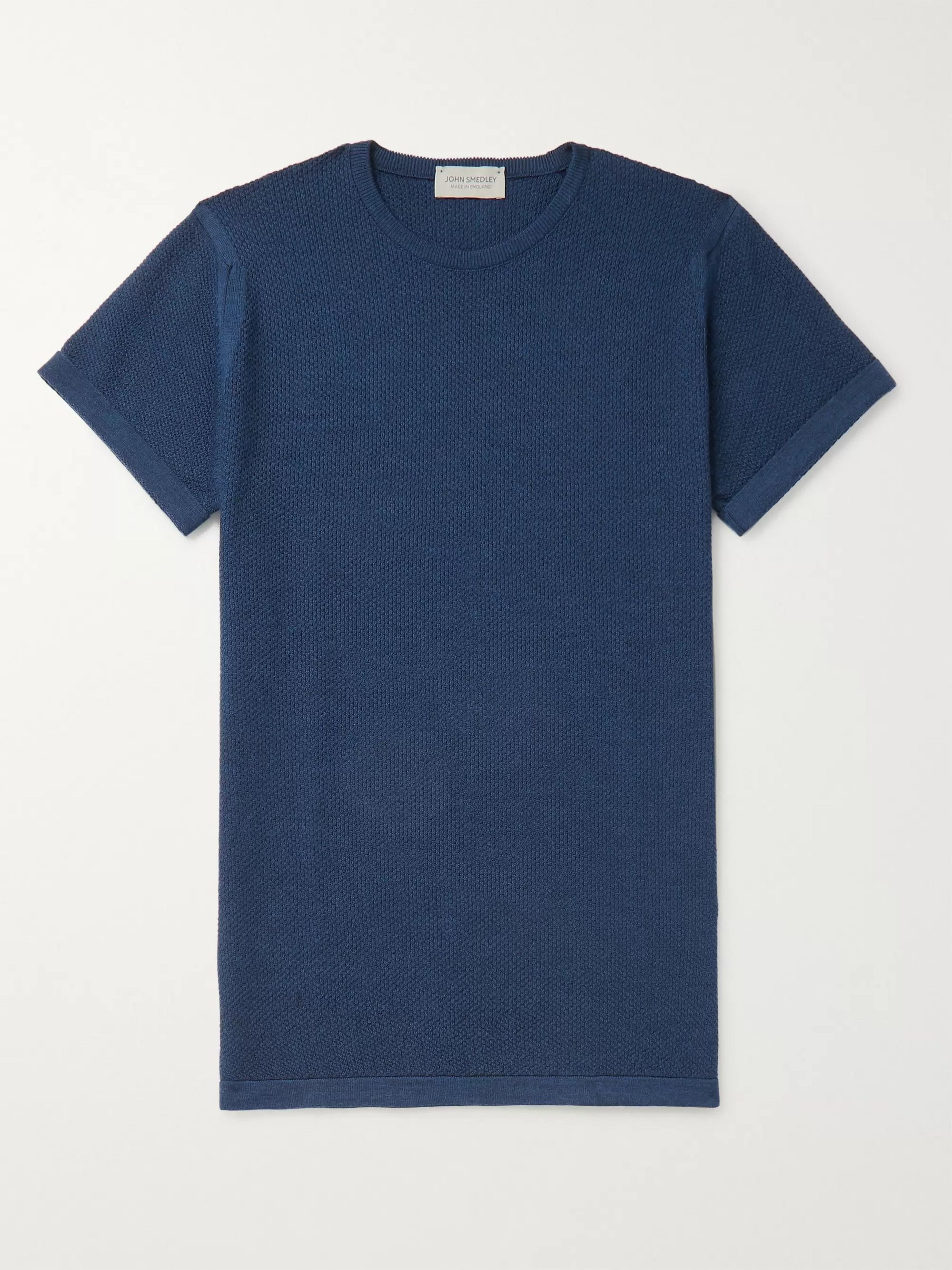 John Smedley 2 Singular Slim-Fit Honeycomb-Knit Virgin Wool T-Shirt