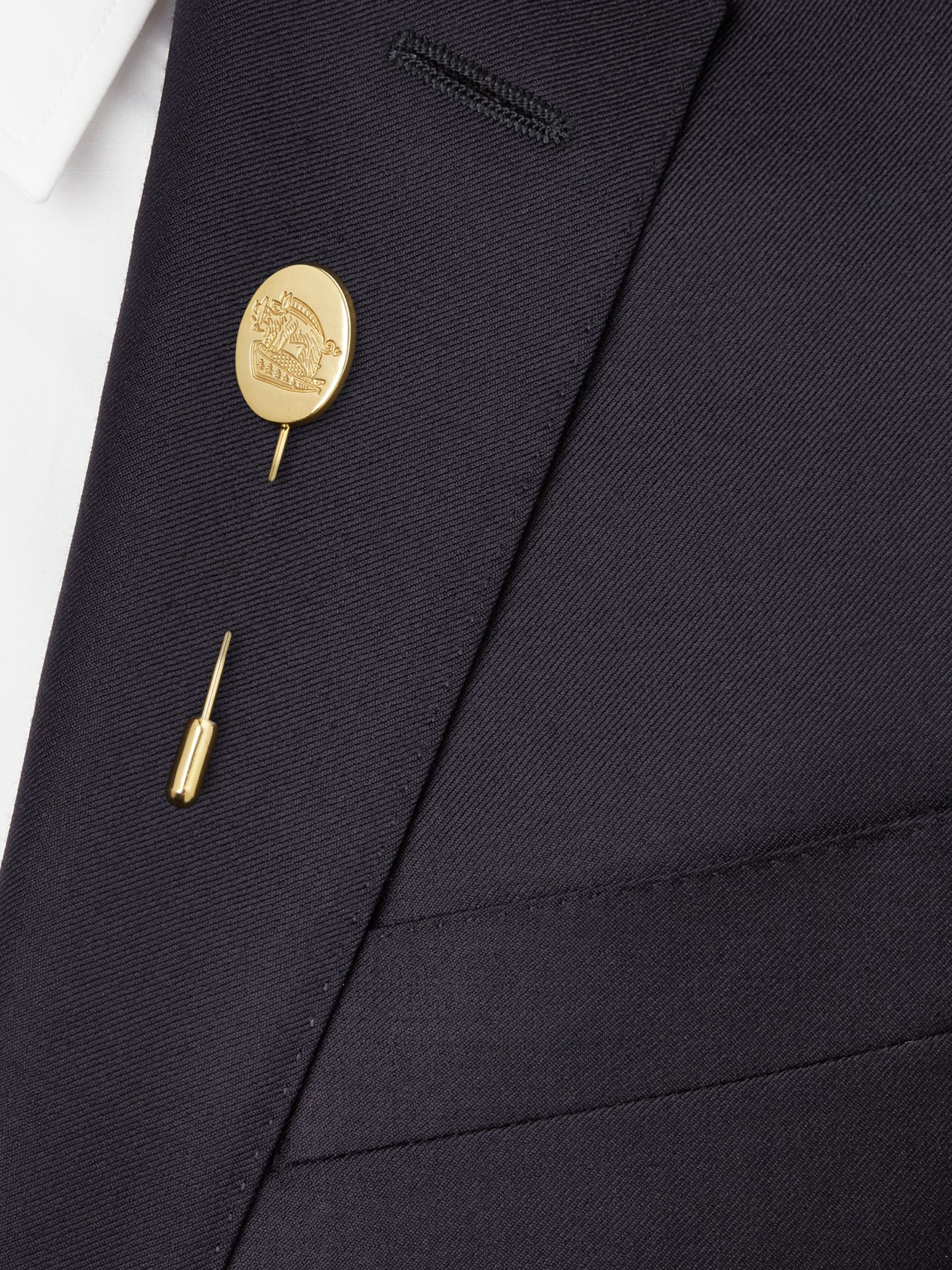 Kingsman + Deakin & Francis Engraved Gold-Plated Tie Pin