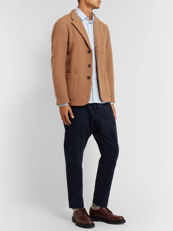 Barena Camel Slim-Fit Unstructured Virgin Wool-Bouclé Blazer