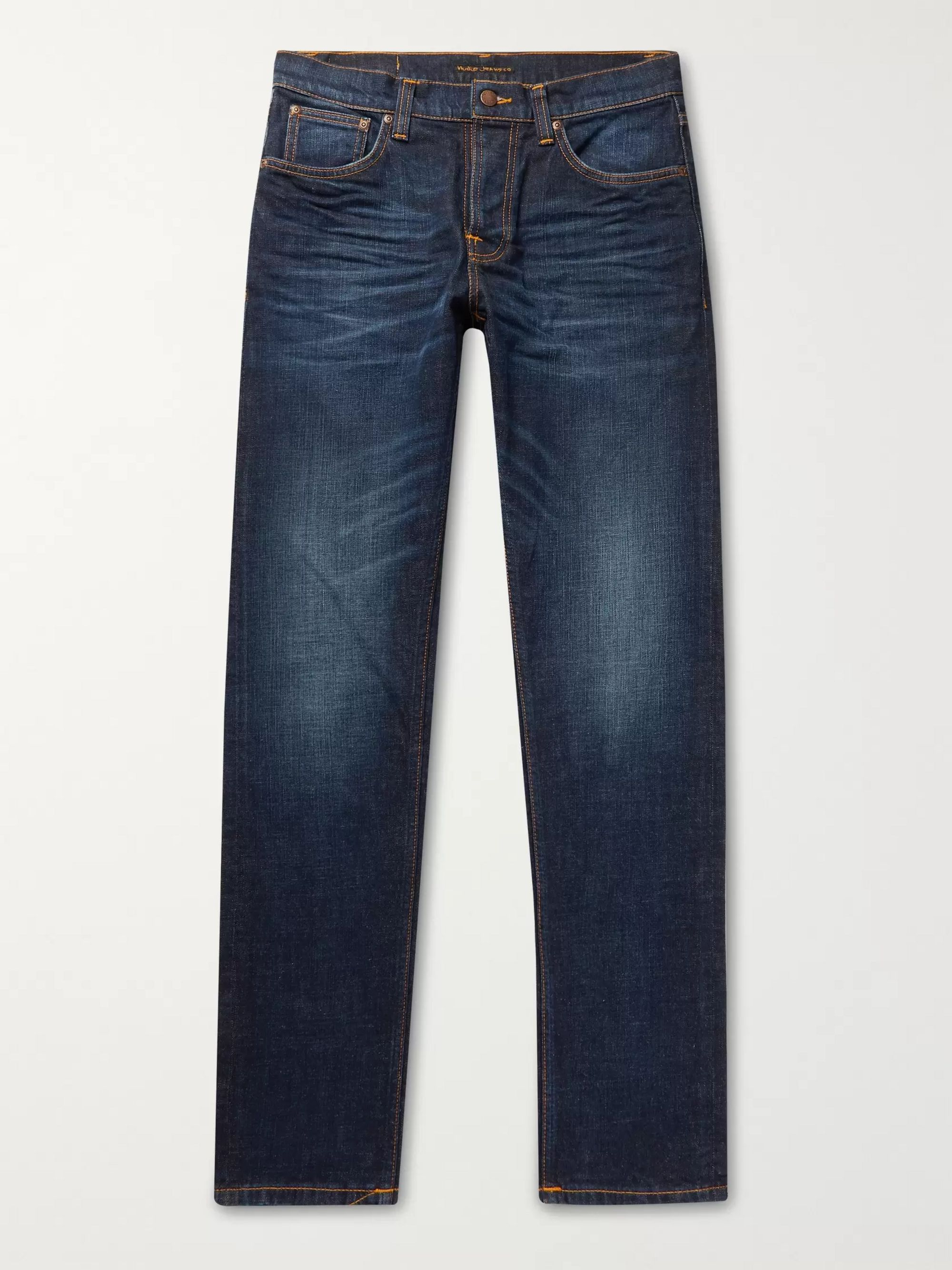 Nudie Jeans Steady Eddie II Slim-Fit Tapered Organic Stretch-Denim Jeans