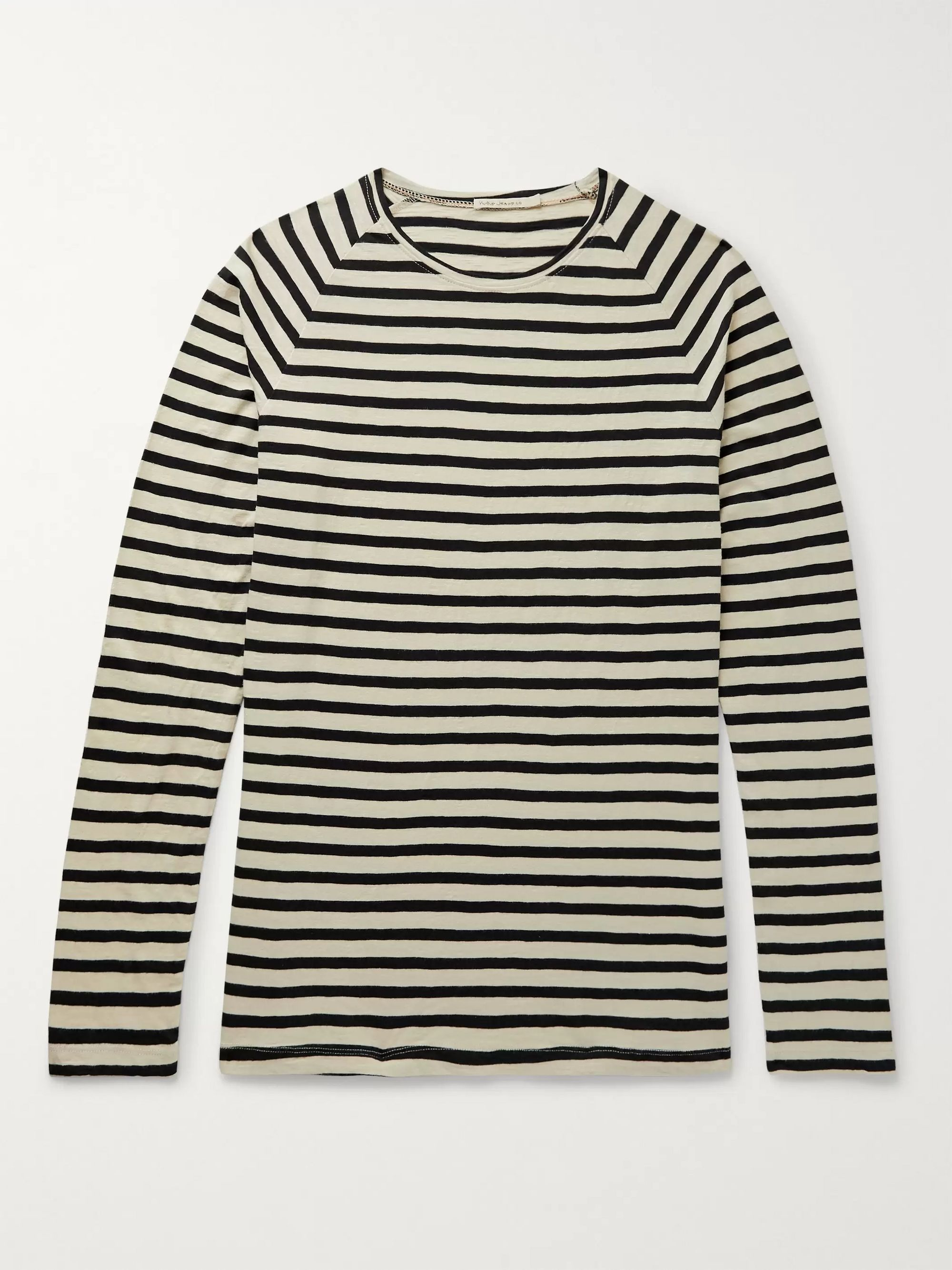 Nudie Jeans Otto Striped Organic Cotton-Jersey T-Shirt
