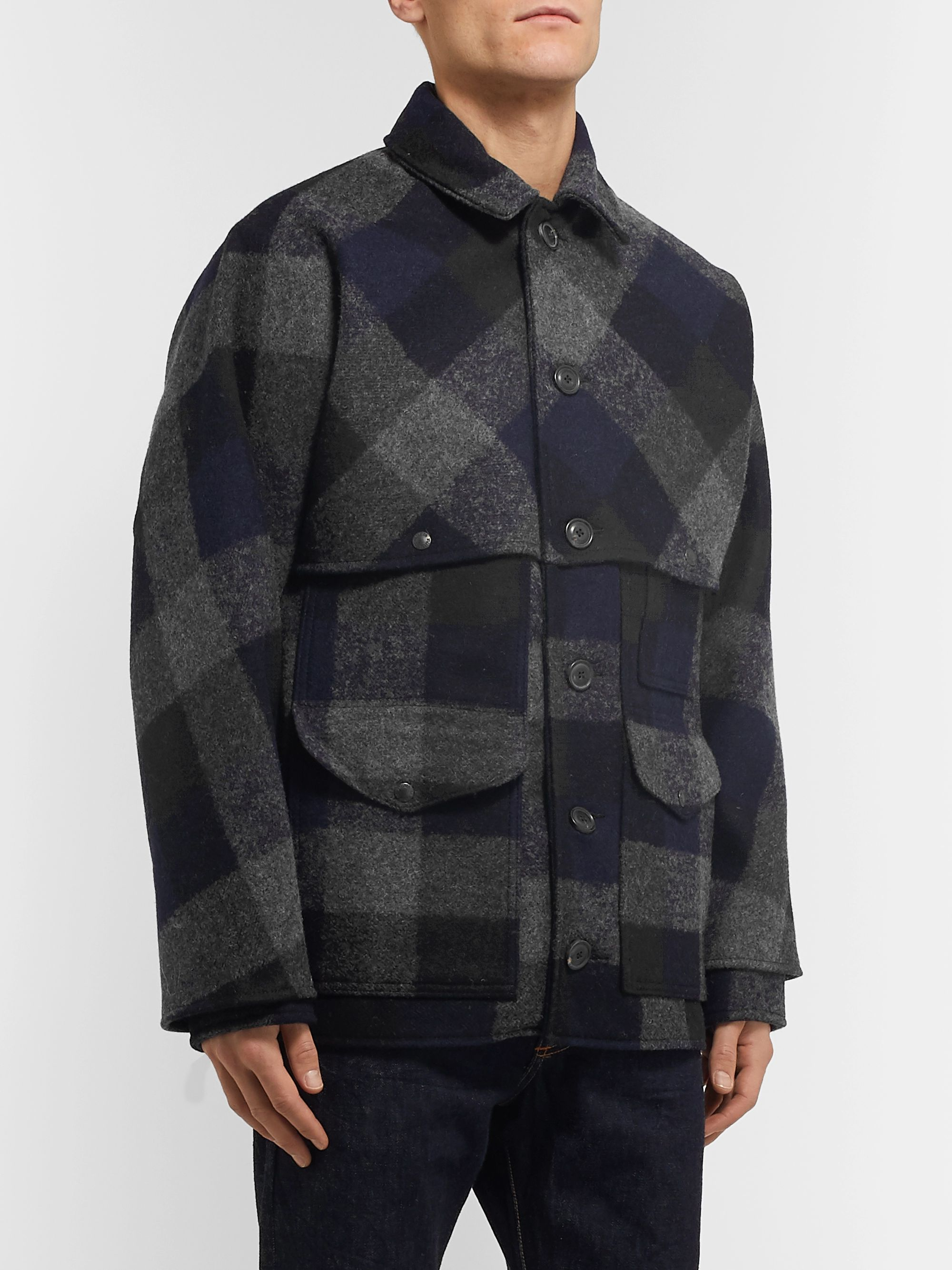 Filson Oversized Checked Brushed Wool-Flannel Jacket