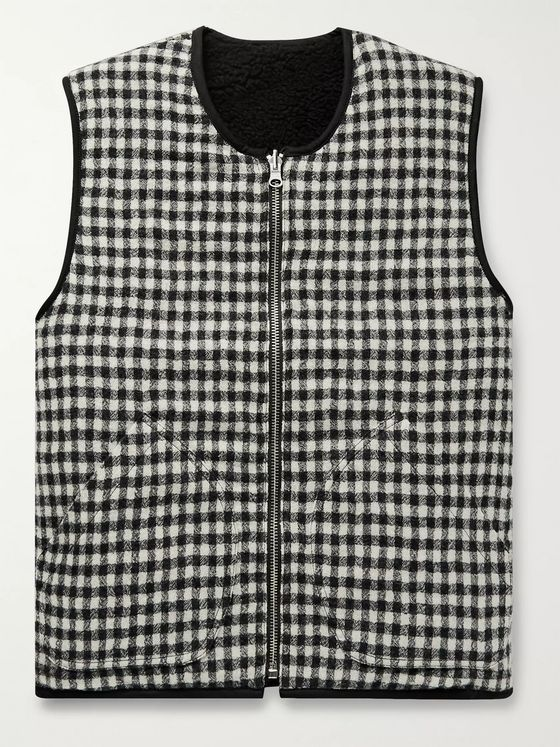 YMC Reversible Virgin Wool and Fleece Gilet
