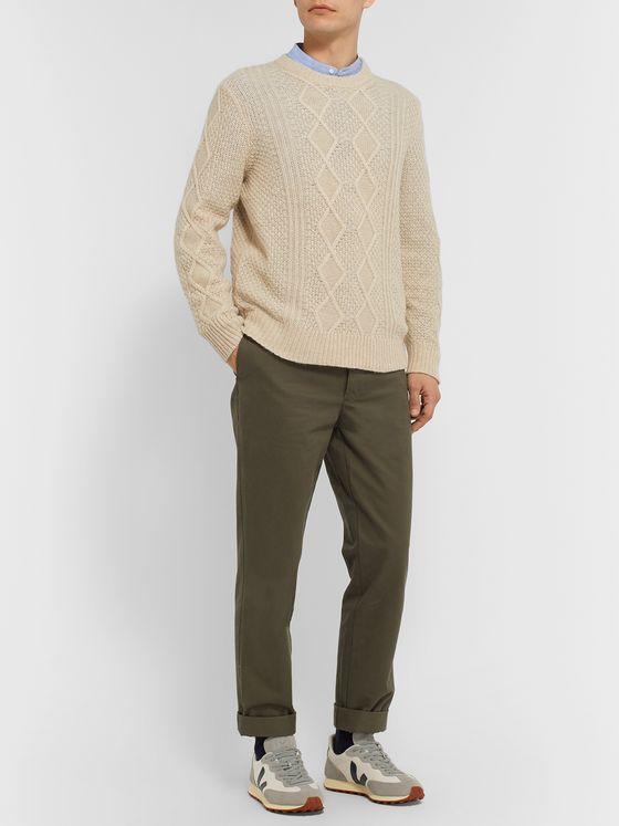 NN07 Hector Slim-Fit Cable-Knit Sweater