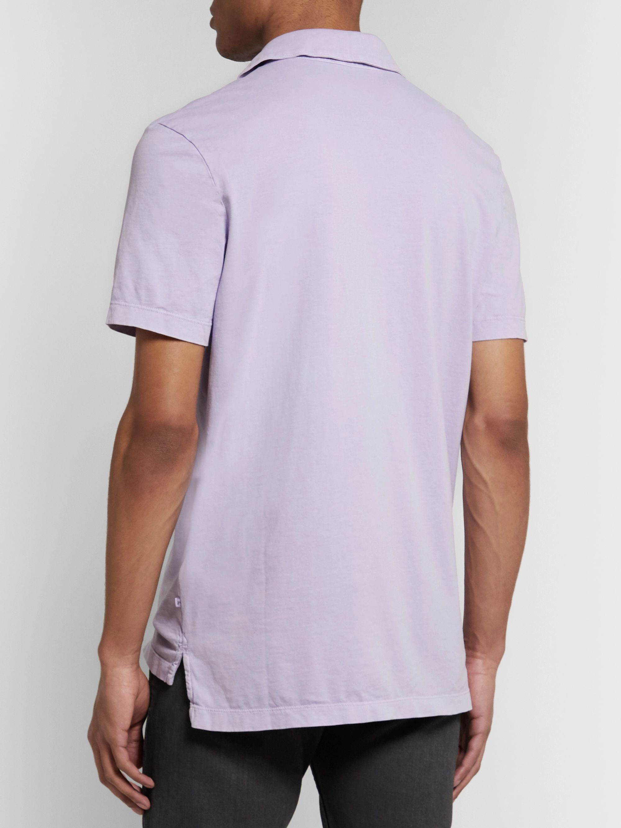 James Perse Slim-Fit Supima Cotton-Jersey Polo Shirt
