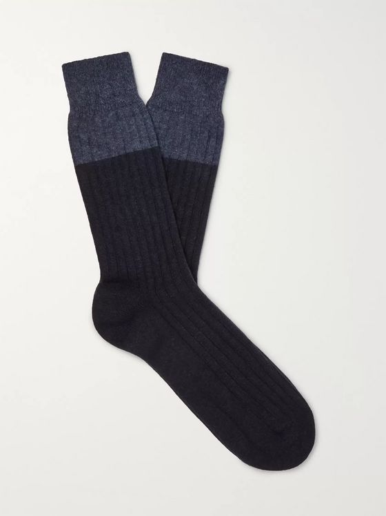 NN07 Colour-Block Knitted Socks