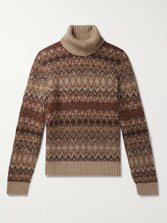 NN07 Ferdinand Fair Isle Wool-Blend Rollneck Sweater