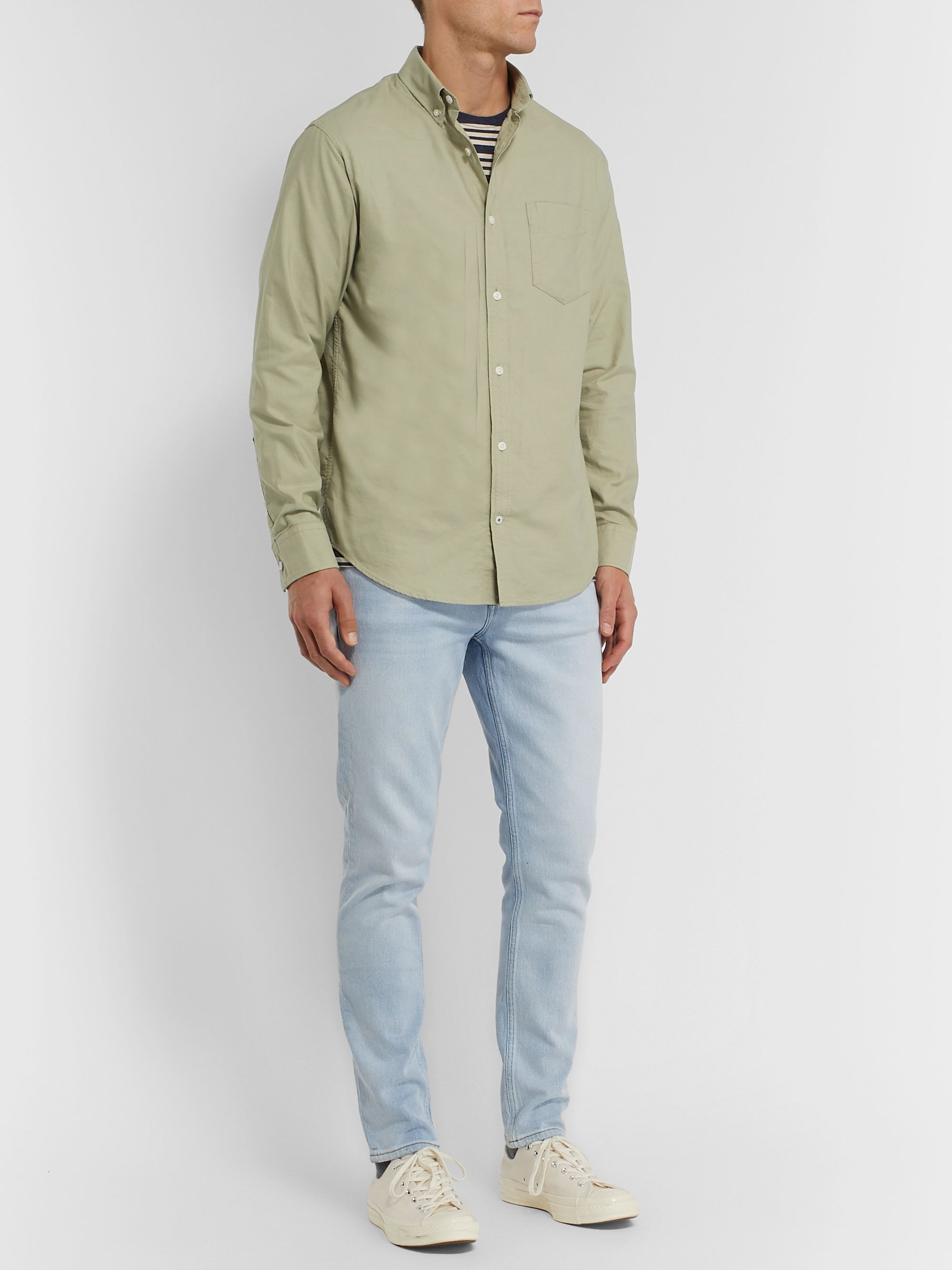 Levon Button Down Collar Cotton Shirt