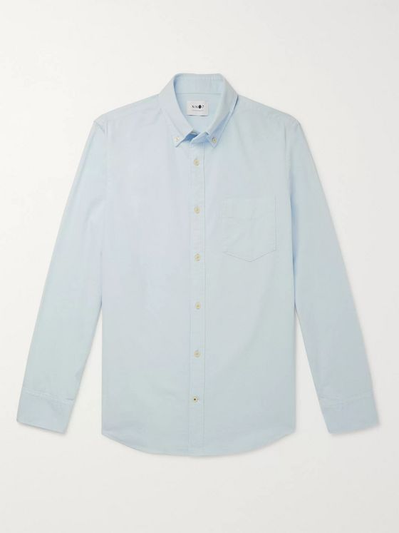 NN07 Levon Button-Down Collar Cotton-Corduroy Shirt