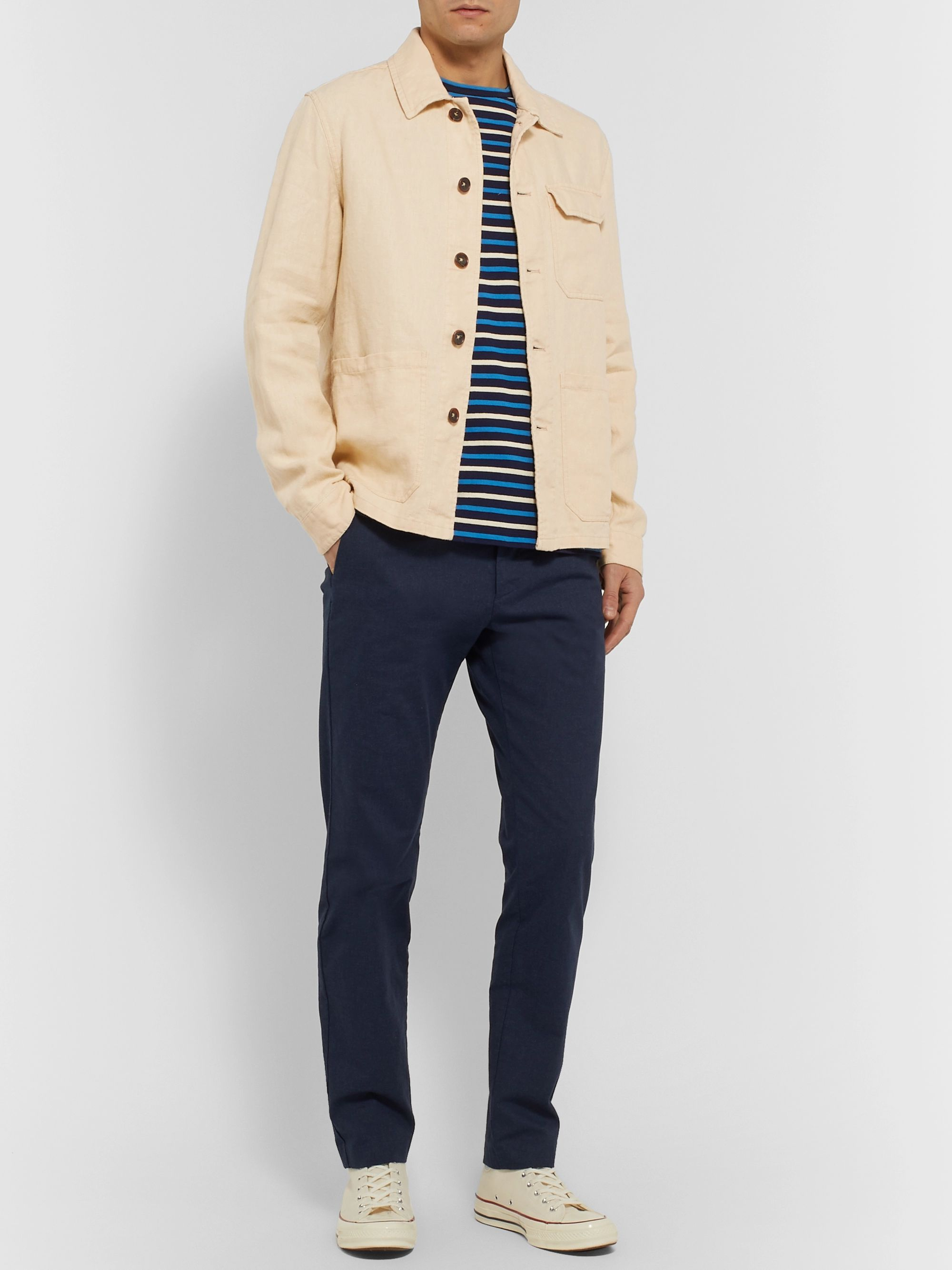 Incotex Linen Shirt Jacket