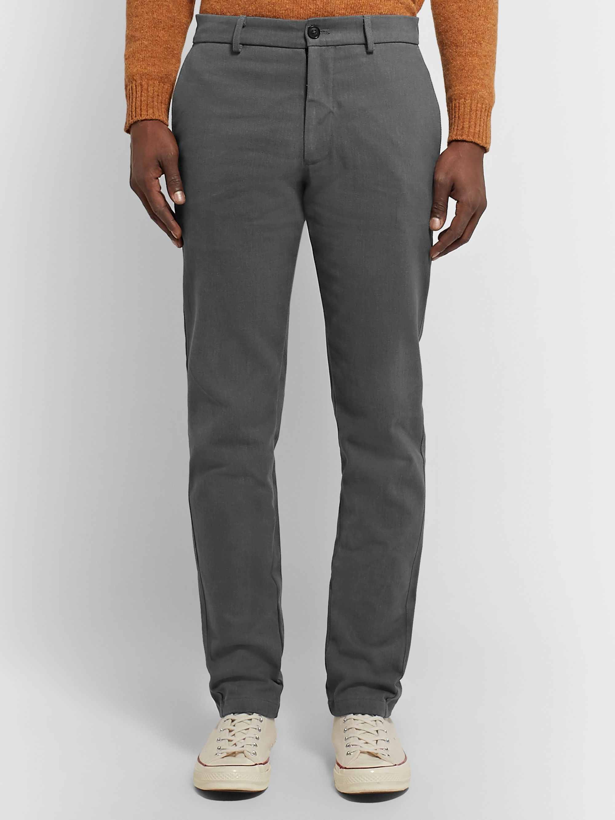 Freemans Sporting Club Slim-Fit Brushed Cotton-Twill Trousers
