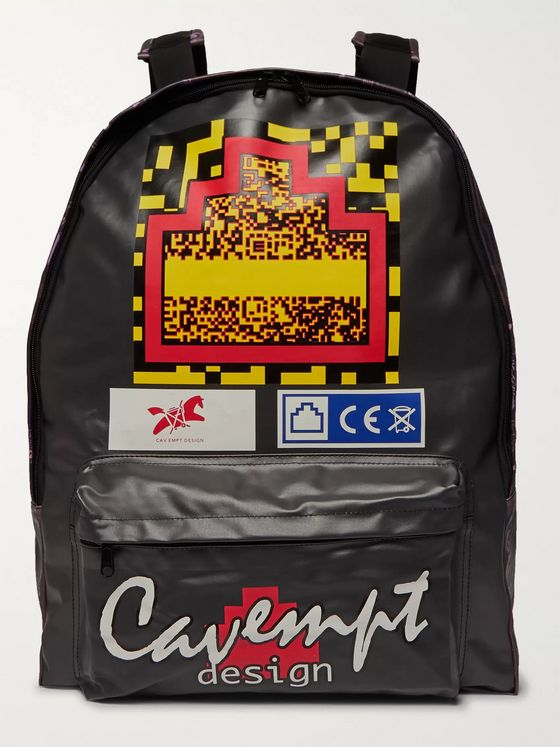 Cav Empt Printed Coated-Canvas Backpack