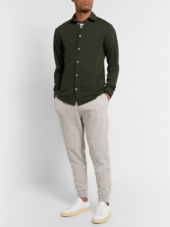 Hamilton and Hare Travel Slim-Fit Cotton-Piqué Shirt