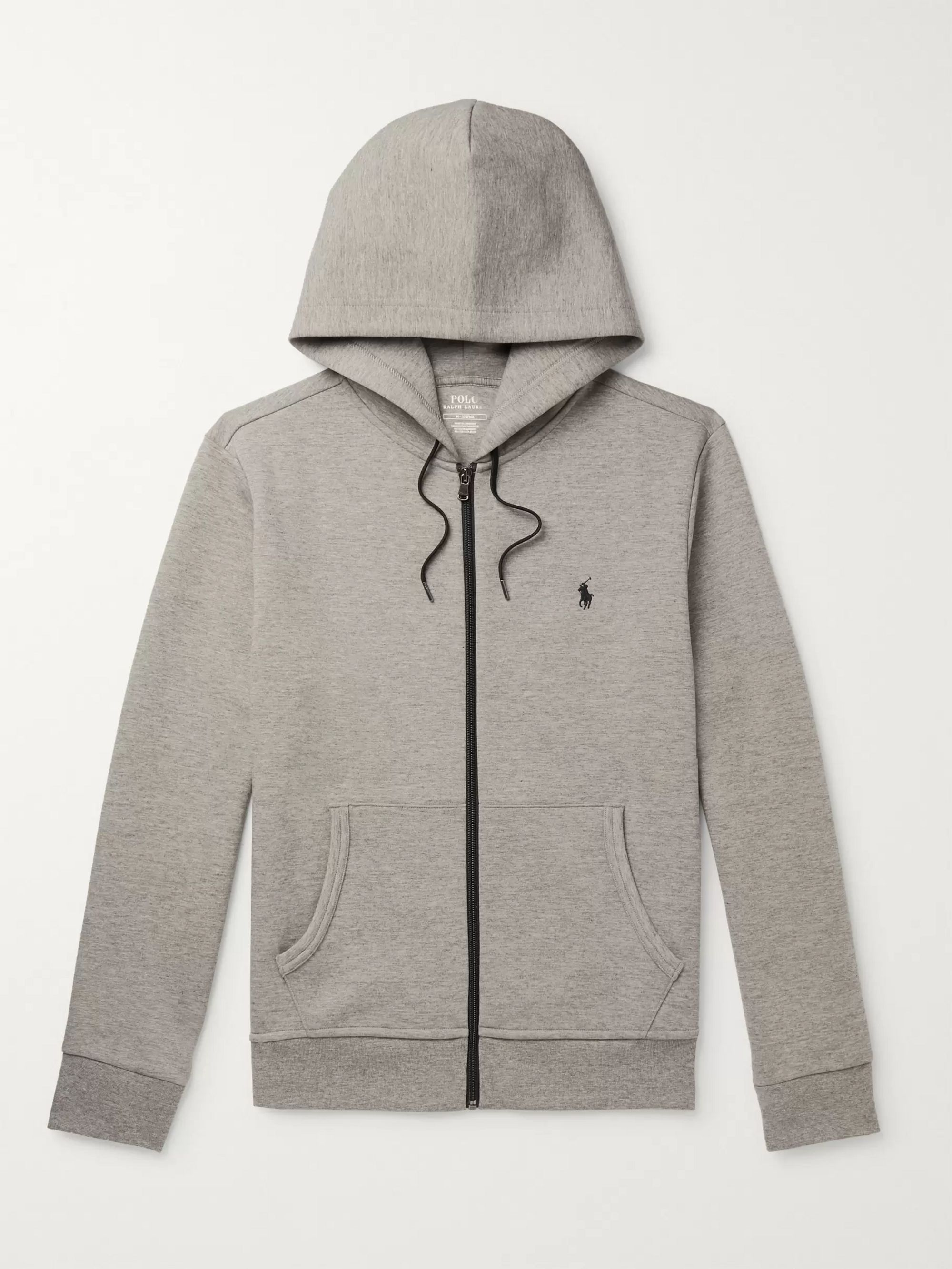 Polo Ralph Lauren Logo-Embroidered Mélange Jersey Zip-Up Hoodie