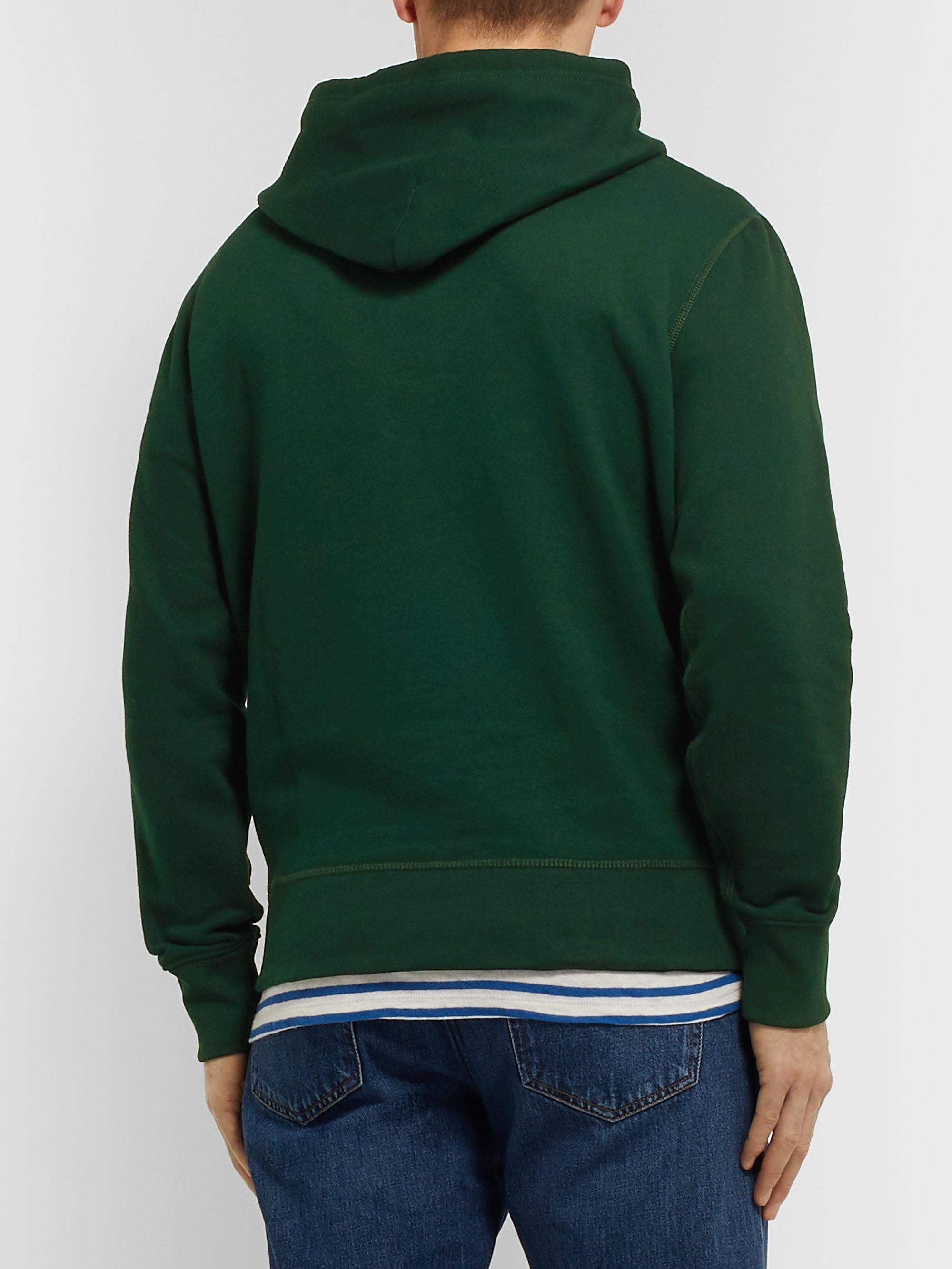 Polo Ralph Lauren Embroidered Cotton-Blend Jersey Hoodie