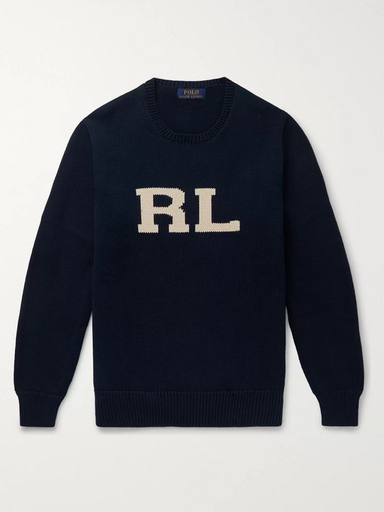 Polo Ralph Lauren Logo-Intarsia Cotton Sweater