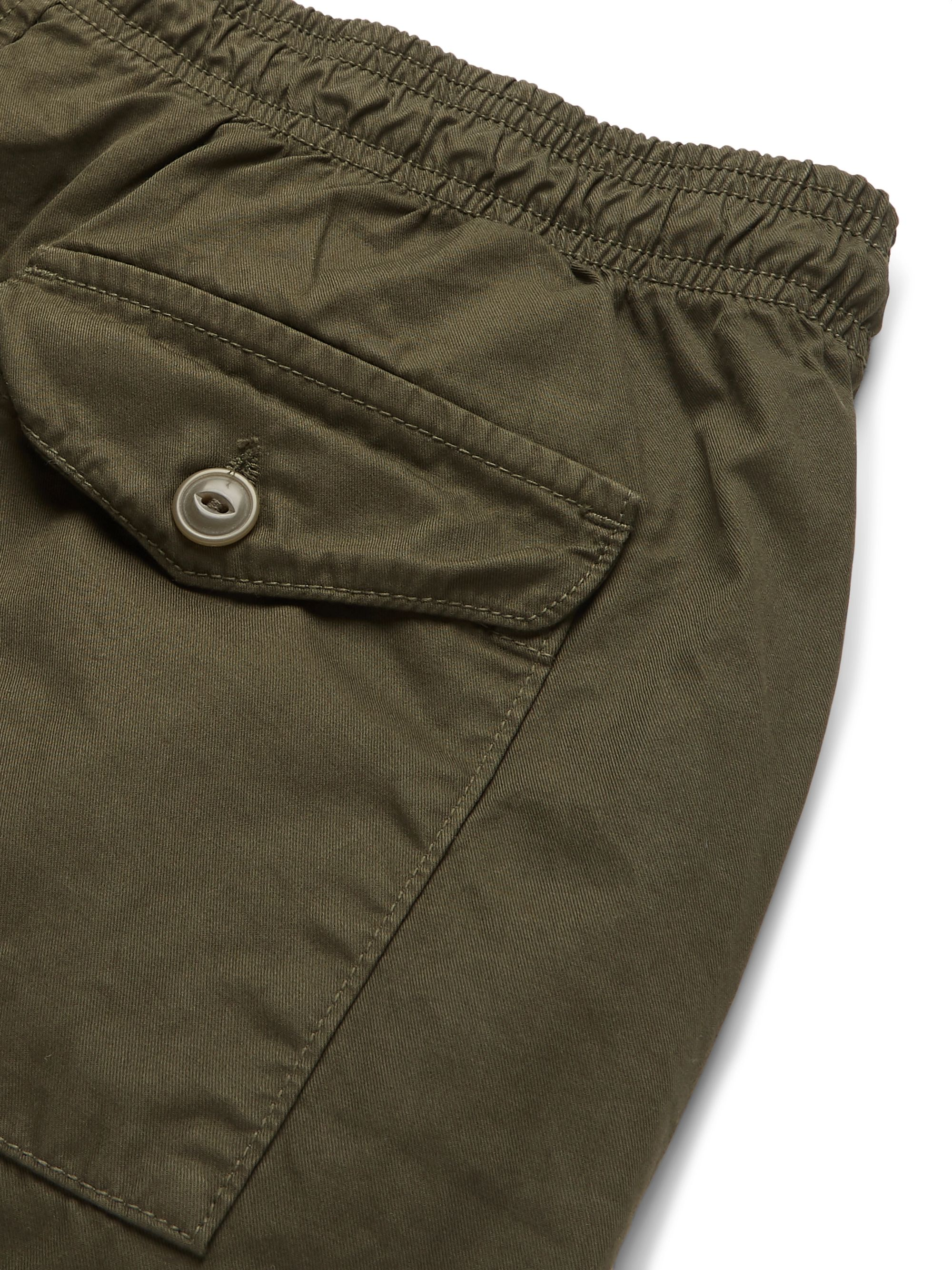 Save Khaki United Easy Cotton-Twill Drawstring Shorts