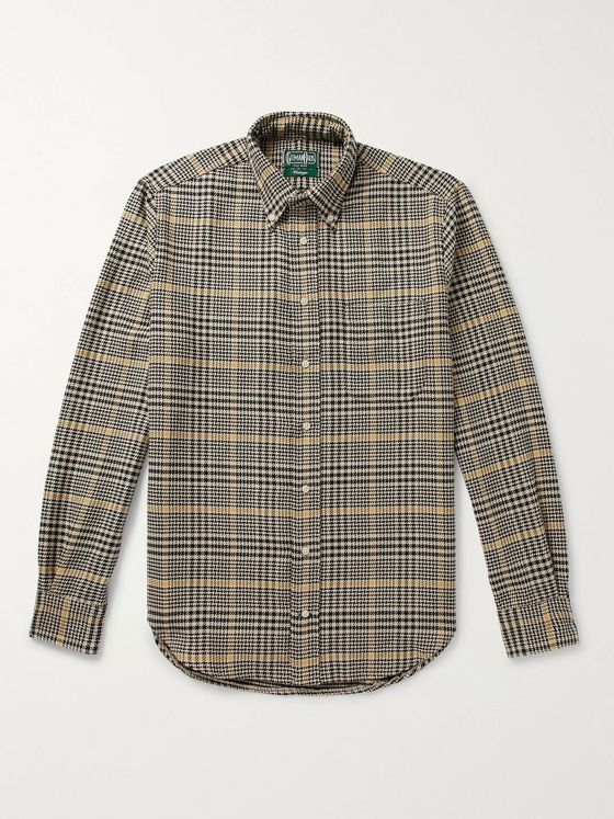 Gitman Vintage Button-Down Collar Houndstooth Cotton Shirt