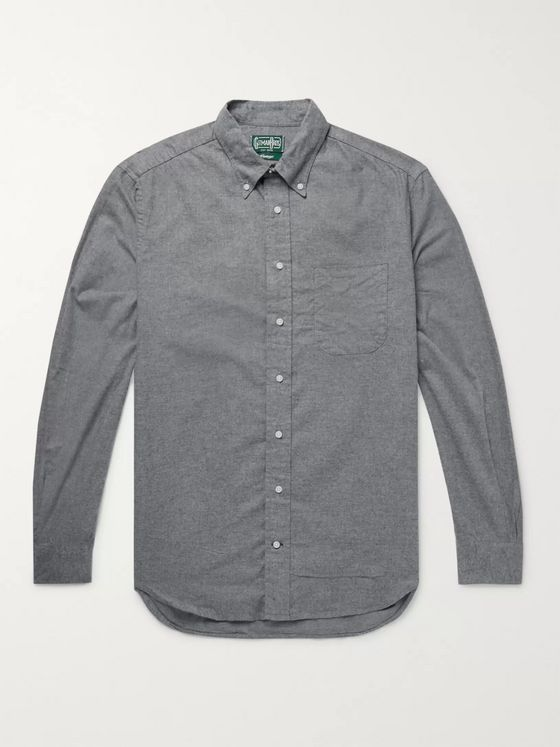 Gitman Vintage Button-Down Collar Cotton-Flannel Shirt