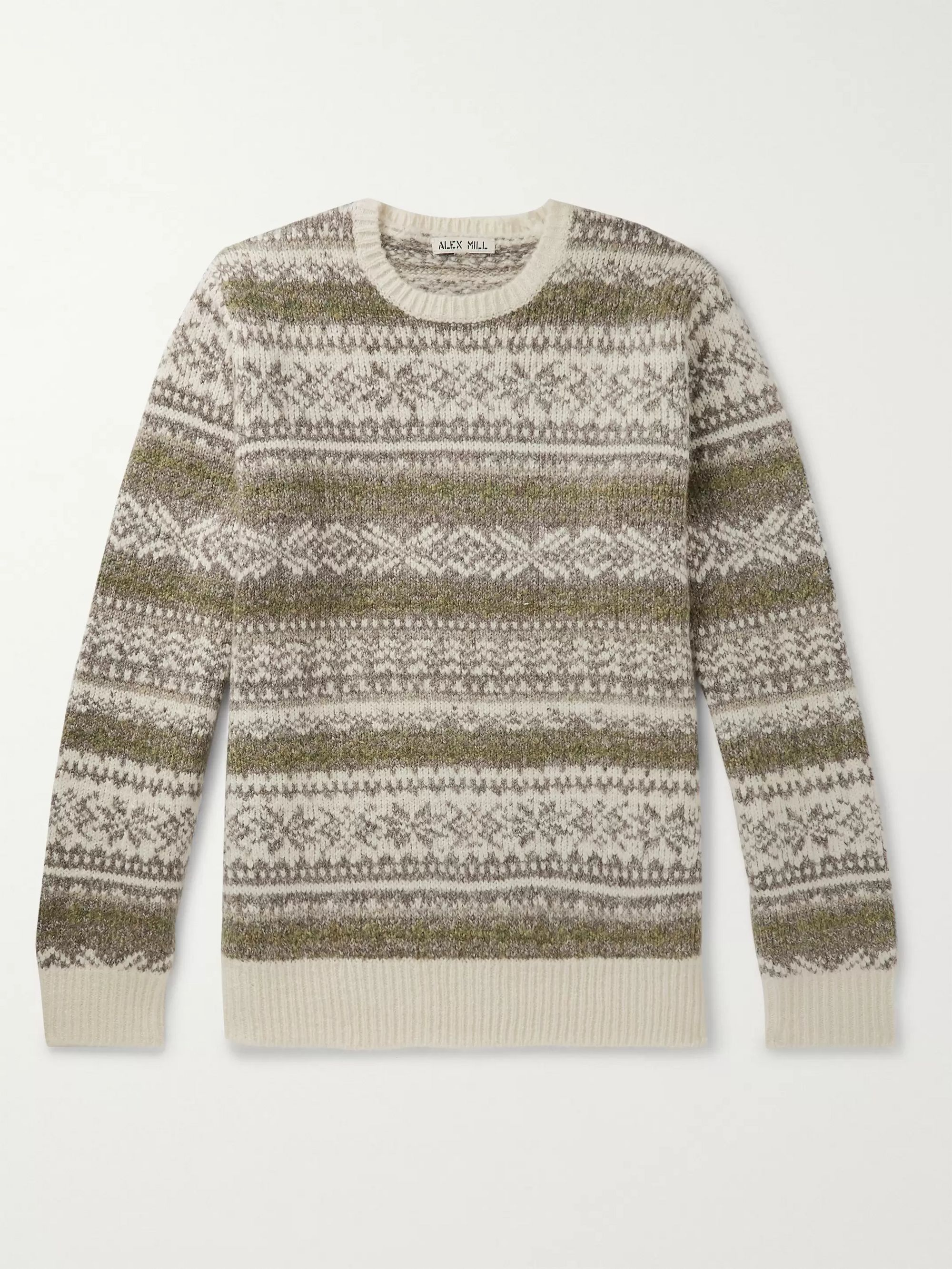 Alex Mill Fair Isle Knitted Sweater