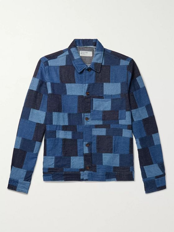 Universal Works Patchwork Denim Chore Jacket