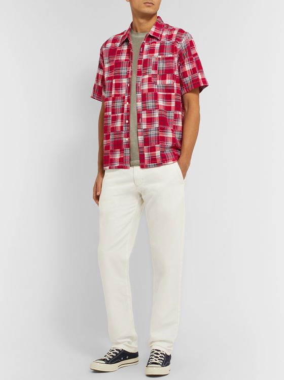 Universal Works Madras Patchwork Cotton Shirt