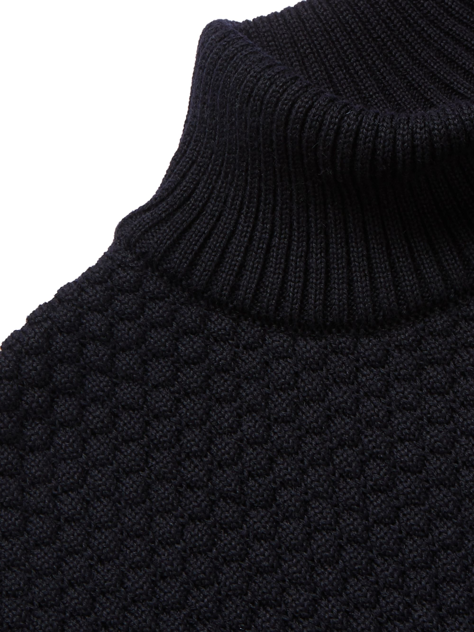 S.N.S. Herning Mediator Virgin Wool Mock-Neck Sweater