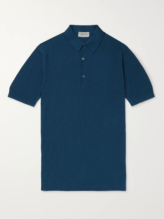 John Smedley Roth Slim-Fit Sea Island Cotton Polo Shirt