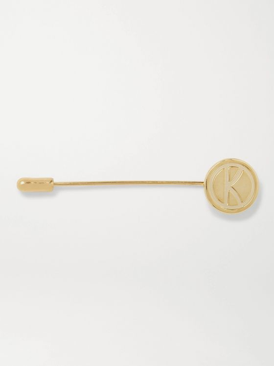 KINGSMAN + Deakin & Francis Engraved Gold-Plated Lapel Pin