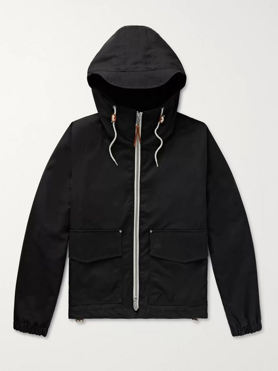 Albam Hemingford Waxed-Cotton Hooded Parka