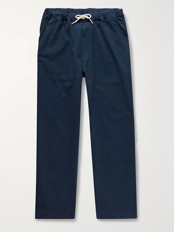 Albam Tapered Cotton-Ripstop Drawstring Trousers