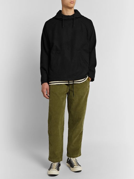 Albam Tapered Garment-Dyed Cotton-Corduroy Trousers