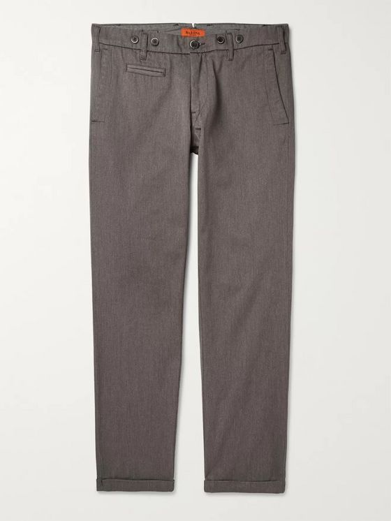 Barena Rampin Slim-Fit Cotton-Blend Twill Trousers