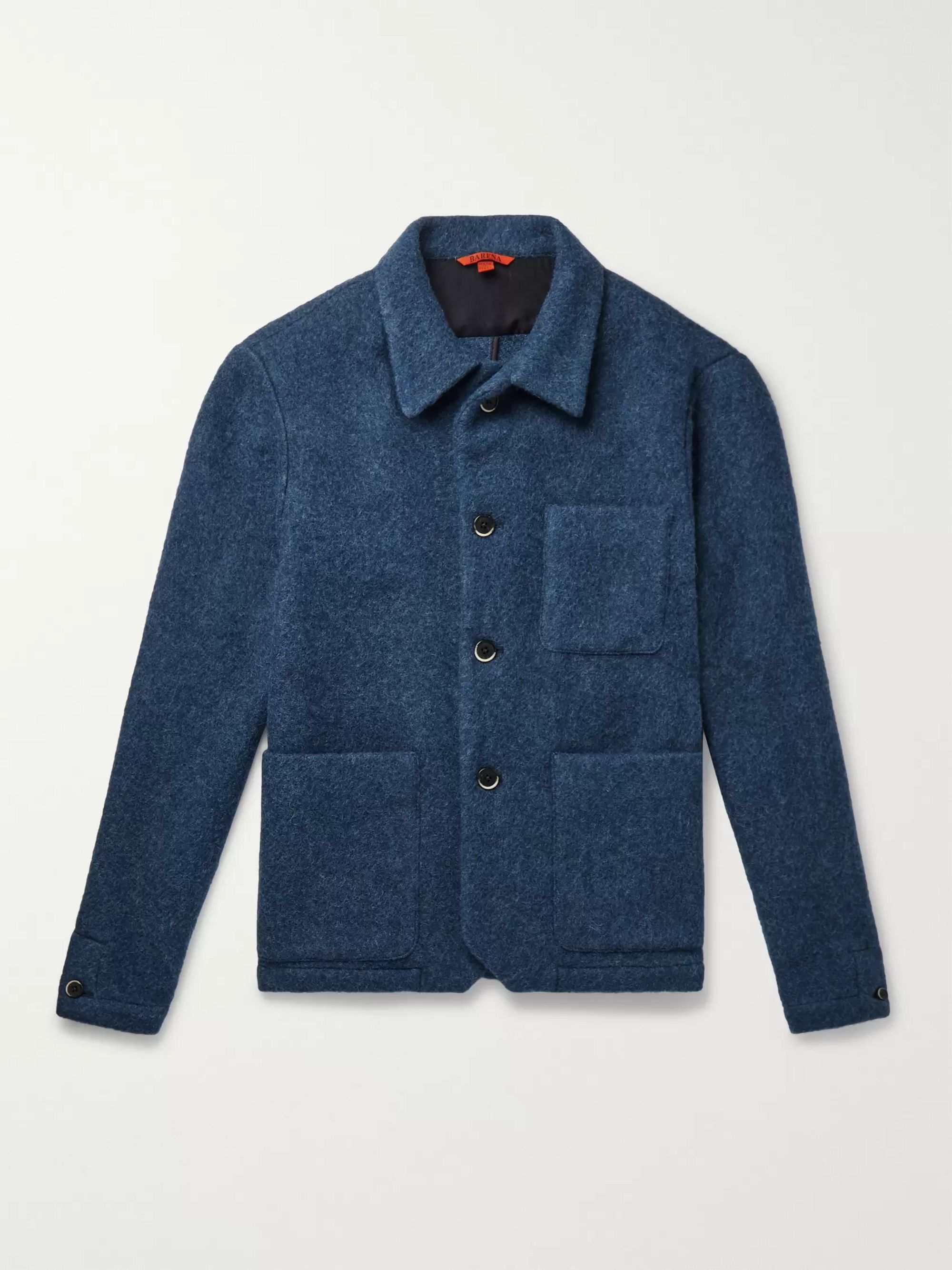 Barena Virgin Wool-Blend Bouclé Overshirt
