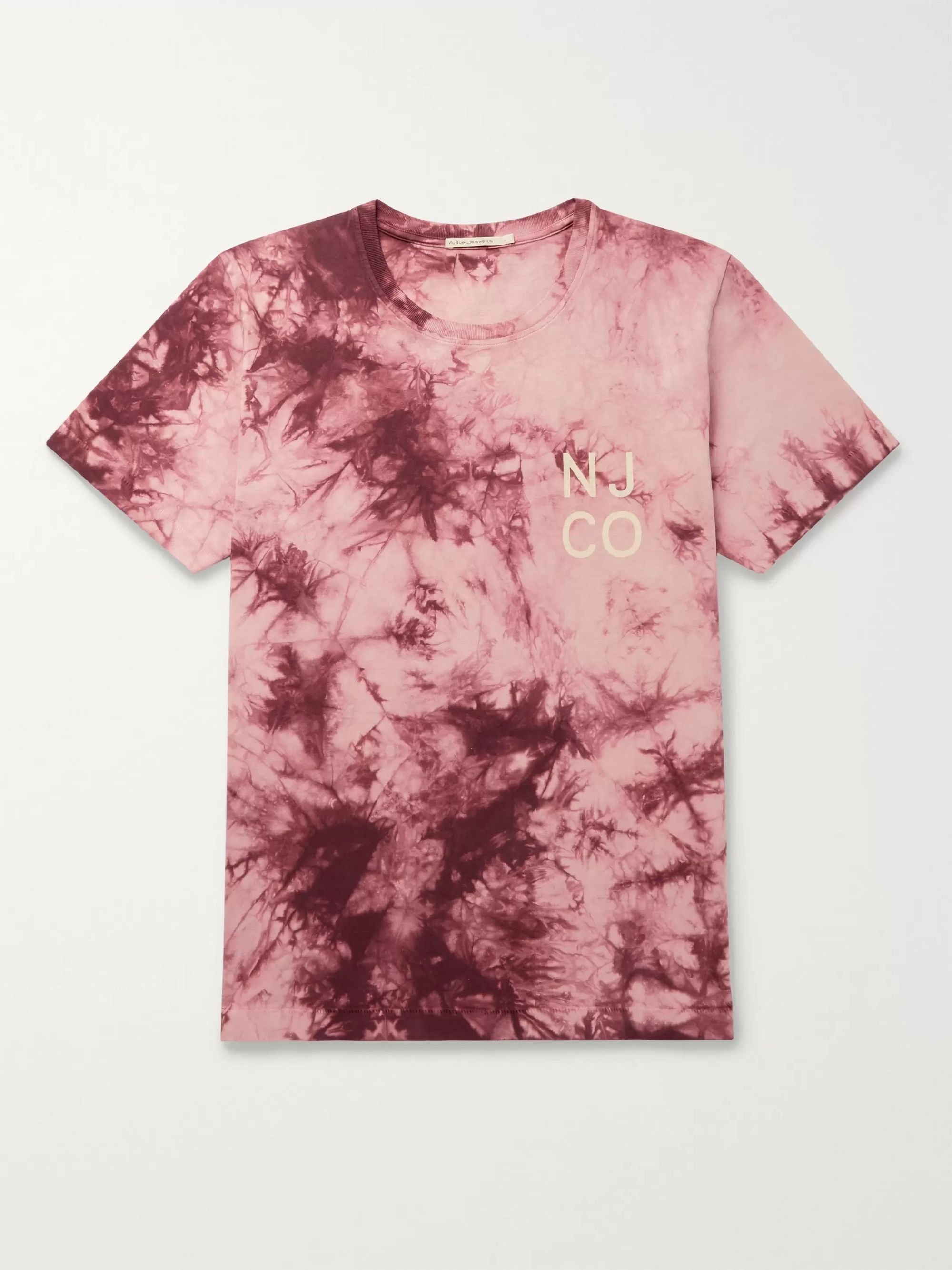 Nudie Jeans Roy Logo-Print Tie-Dyed Cotton-Jersey