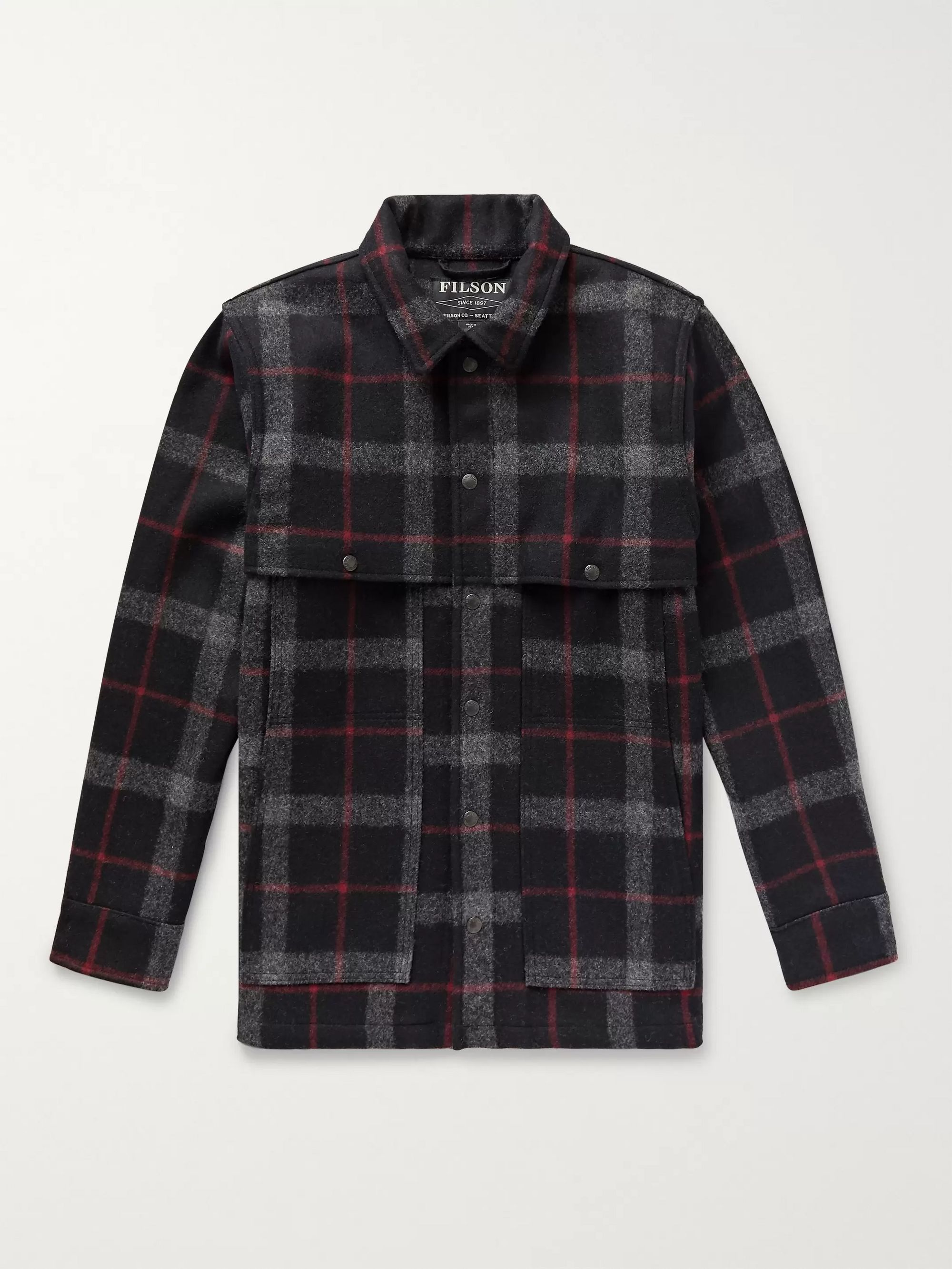 Layered Checked Wool Coat by Filson