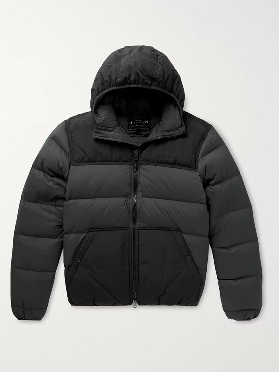 Filson Featherweight Canvas-Trimmed Quilted Nylon Hooded Down Jacket
