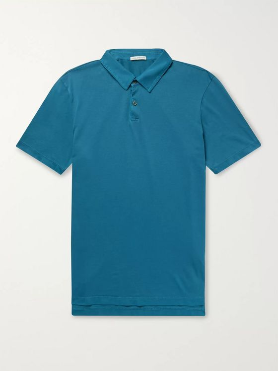 James Perse Mélange Supima Cotton-Jersey Polo Shirt