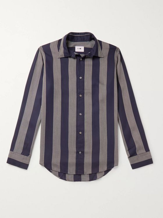 NN07 Errico Striped Tencel Shirt